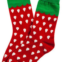 MKL Accessories Socks Strawberry Fields in Red
