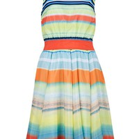 Buy Ted Baker Ilva Sunset Stripe Print Dress, Tangerine online at JohnLewis.com - John Lewis