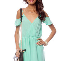 Off Your Ruffles Dress in Mint :: tobi