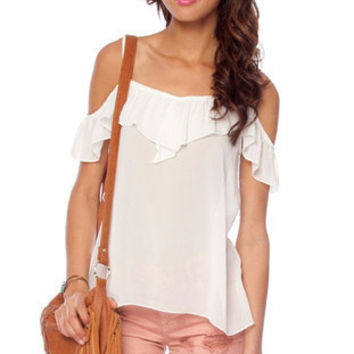 Summer Nights Top in Ivory :: tobi