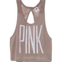 Open-Back Muscle Tank - PINK - Victoria's Secret