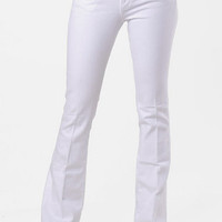 Paige Premium Denim Laurel Canyon Bootcut Jeans in Optic White :: tobi