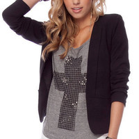Gatsby Blazer in Black :: tobi