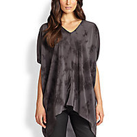 Eileen Fisher - Silk Tie-Dyed Tunic Top - Saks Fifth Avenue Mobile