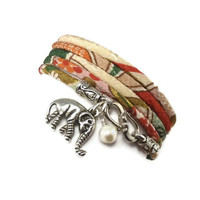 Wrap Bracelet made with Luck Elephant by charmeddesign1012