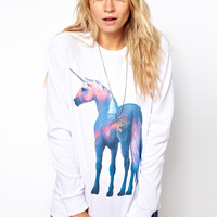 ASOS | ASOS Sweatshirt with Shiny Unicorn at ASOS
