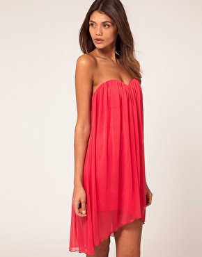 ASOS | ASOS Strapless Dress In Mesh at ASOS