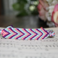 chevron friendship bracelet Candy Shop wide by WoodlandTrinkets