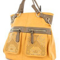 Gold Accented Large Tribal Handbag - Modeets