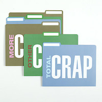 Crap Folders - Set of 6 | Novelty | Z Gallerie