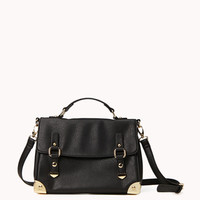 Metal Trim Satchel