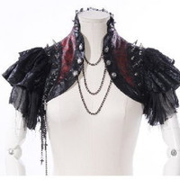 Cosplay Dolly Nana Punk Rock Gothic Cyber Mini Jacket Shirt Cape 21142 Black/red | eBay