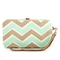 Chevron Canvas Phone Wristlet: Charlotte Russe