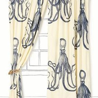Deep Sea Curtain-Anthropologie.com