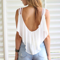 Jellyfish Top in Bone