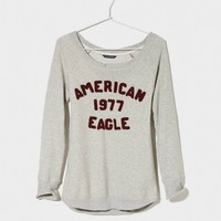 AEO Women's Signature Sweatshirt (Light Hea