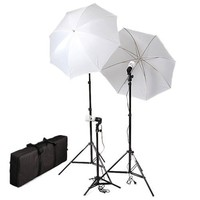 Cowboystudio Photography/Video Portrait Umbrella Continuous Triple Lighting Kit with Three Day Light CFL Bulbs, Umbrellas, Stands, and Carrying Case For Product, Portrait, and Video Shoots