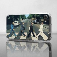 Beatles Abbey Road Apple iPhone 4G Custom Case by RecordWallets