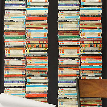Anthropologie - Stacked Paperback Wallpaper