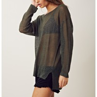 Feel The Piece Linen Knit Sweater