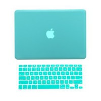 TopCase 2 in 1 Rubberized TIFFANY BLUE Hard Case Cover and Keyboard Cover for Macbook Pro 13-inch 13 (A1278/with or without Thunderbolt) with TopCase Mouse Pad