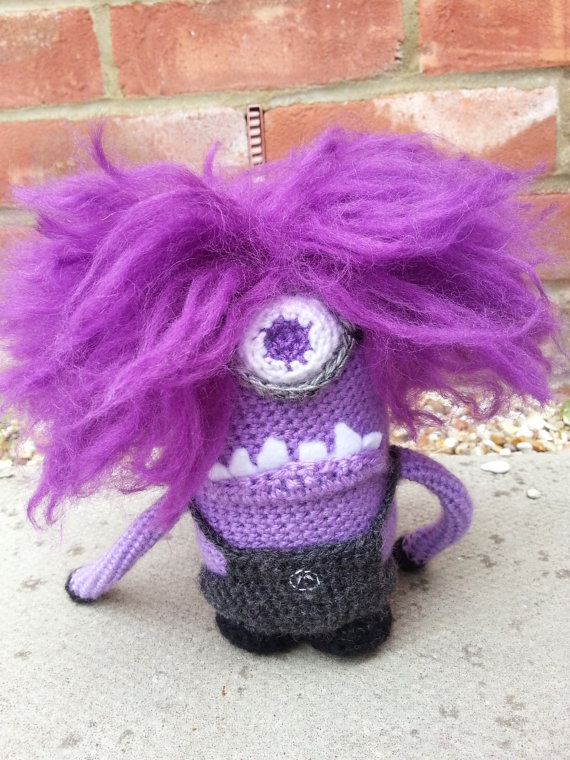 Crochet Pattern For Doll Poncho : Despicable Me 2 Evil Minion Amigurumi from LoopyLousLoops ...