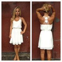 Double Diamond Chiffon Dress