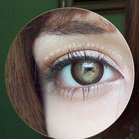 GEO Mari Gold Brown Circle Lens Cosmetic Big Eye Colored Contacts Lenses | EyeCandy's