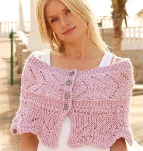 Hand knitted Shoulder Wrap Poncho Cape from tvkstyleArtfire on