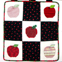 Wall Hanging, Home Decor, Apples, Needlework, Gift, TJBdesigns