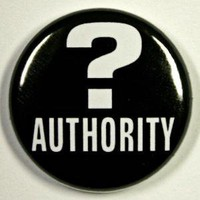 Question Authority Button Pin by theangryrobot