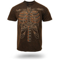 Steampunk Skeleton T-Shirt - Black,