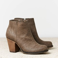 AEO Faux Snakeskin Bootie | American Eagle Outfitters