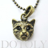 ONE DOLLAR SALE - Baby Kitty Cat Animal Charm Necklace in Bronze
