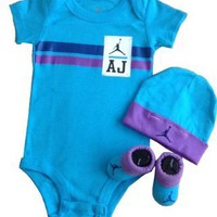 Nike Jordan Infant New Born Baby Bodysuit Layette Sets and Cell Phone Anti-dust Plug:Amazon:Baby