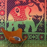 Urban Outfitters - Magical Thinking Rainbow Elephant Tapestry