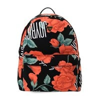 ZLYC Vintage Rose Floral Printed Canvas Backpack