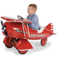 The Authentic 1941 Red Baron Pedal Biplane - Hammacher Schlemmer