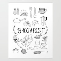 Breakfast Art Print by Brooke Weeber