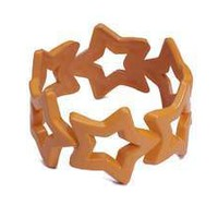 Women's Club Candy 80s or Rave Costume Orange Star Bangle Bracelet
