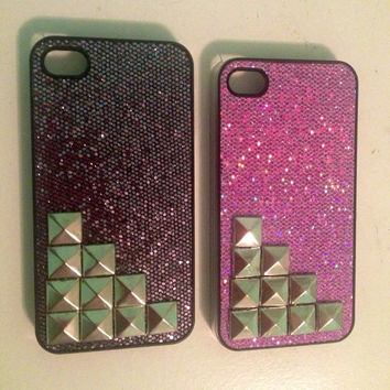 Sparkly Studded iPhone 4/4S Case by oheyemily on Etsy