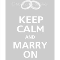 Keep Calm and Marry On  CHOOSE YOUR ICON  Poster by PosterPop