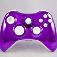 Chrome Purple/White Xbox 360 Modded Controller (Rapid Fire) COD MW3, Black Ops 2, MW2, MOD GAMEPAD:Amazon:Video Games