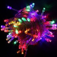 100 LED Multi-color Christmas Light Mix-color Holiday String Lights for Party Room Garden Home Christmas Decoration:Amazon:Home & Kitchen