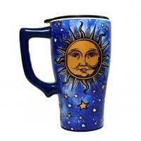 Celestial Sun and Stars Solar System Ceramic Travel Mug Gift