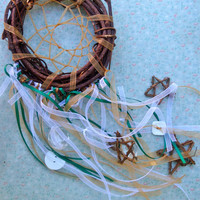 Dream Catcher Wall Hanging Southwestern Housewarming Gifts. Ribbon Southwestern Dream Catcher for Women
