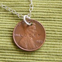 Lucky Penny Necklace by punkybunny300 on Etsy