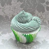 Teal Bath Bomb Cupcake - Bursting Spring With Moisturizing Oils