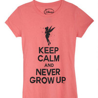 Keep Calm And Never Grow Up Tee