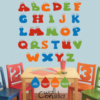 Colorful Alphabet Wall Decal Alphabet Wall by WallConsilia